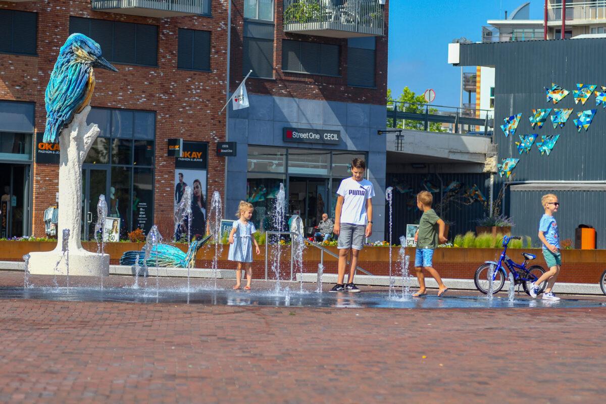 Waterpret op Marktplein Almelo