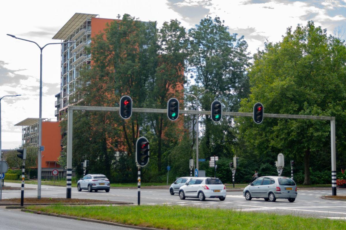 Verkeerslicht stoplicht in Almelo