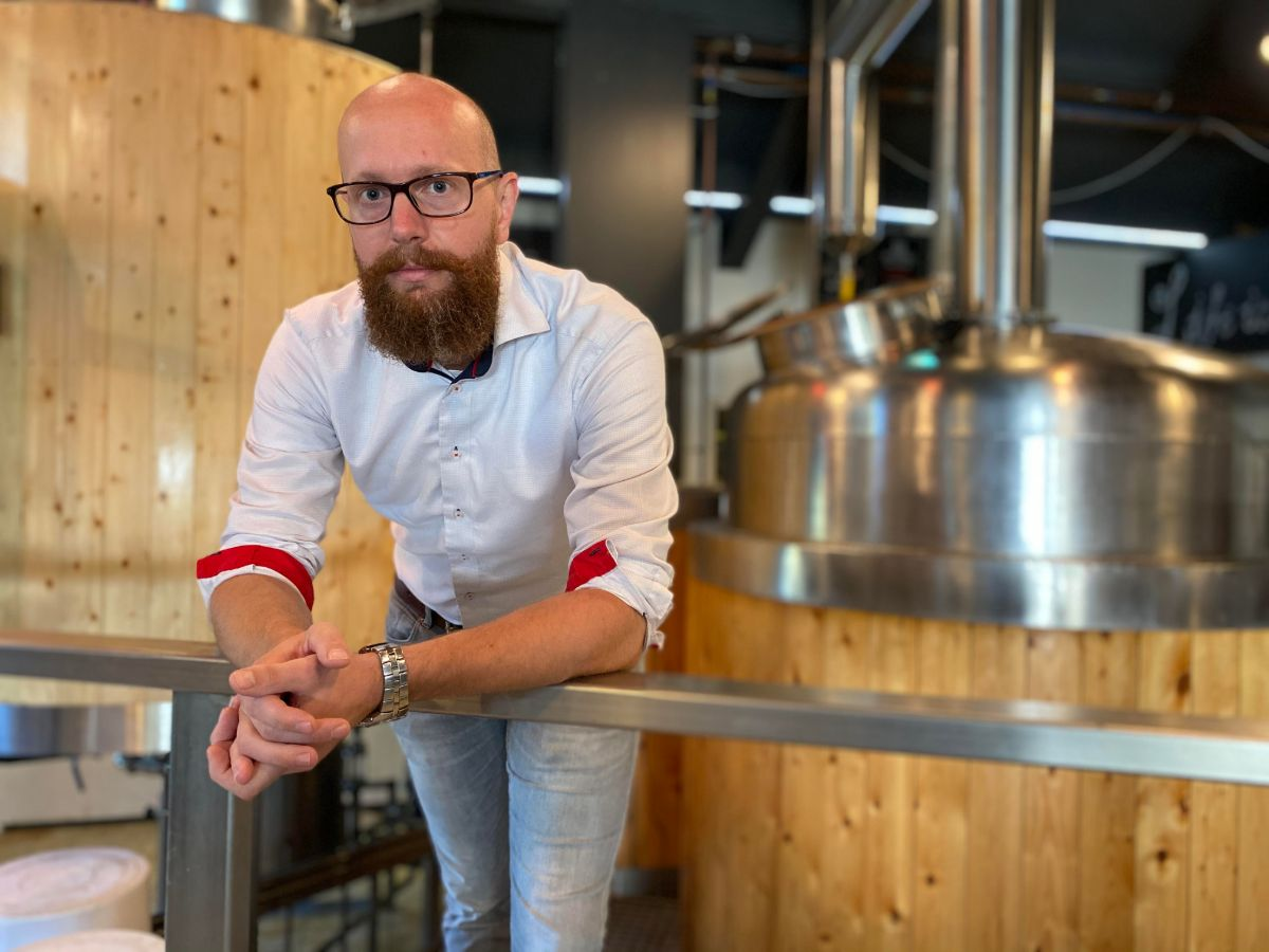 Menno ter Braak van bierbrouwerij Zwarte Parochie Almelo