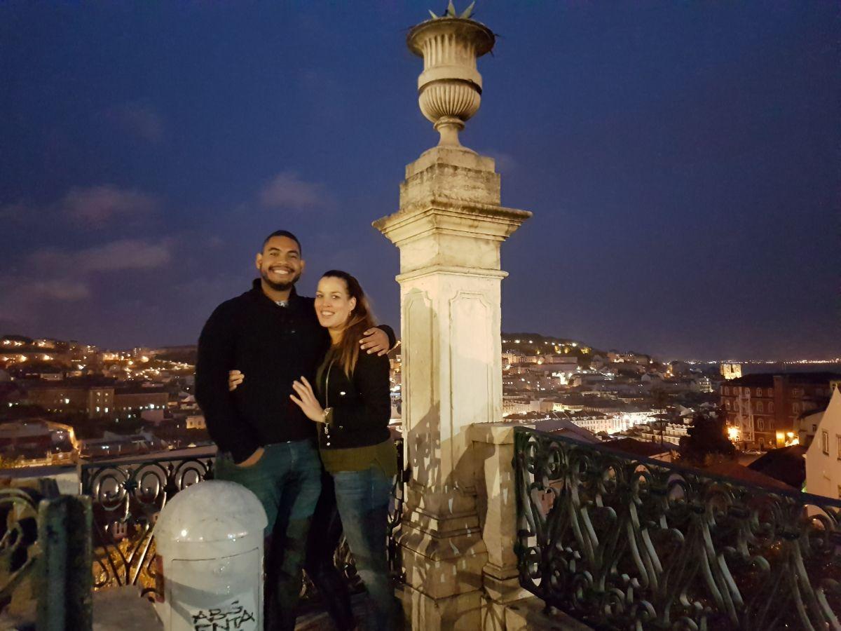 Tamara e seu marido em portugal
