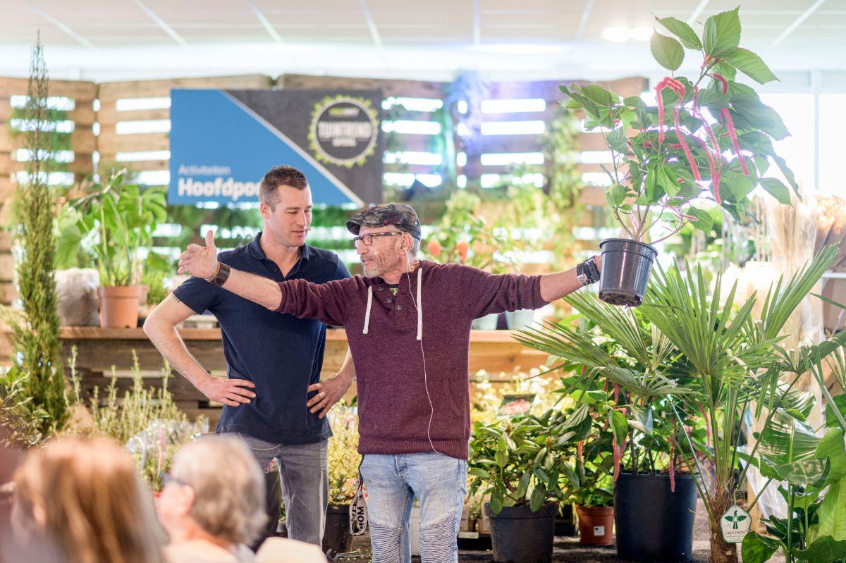 Ivo Putman en Rob Verlinden tijdens Tuintrend Event 2020 bij Kees Smit in Almelo