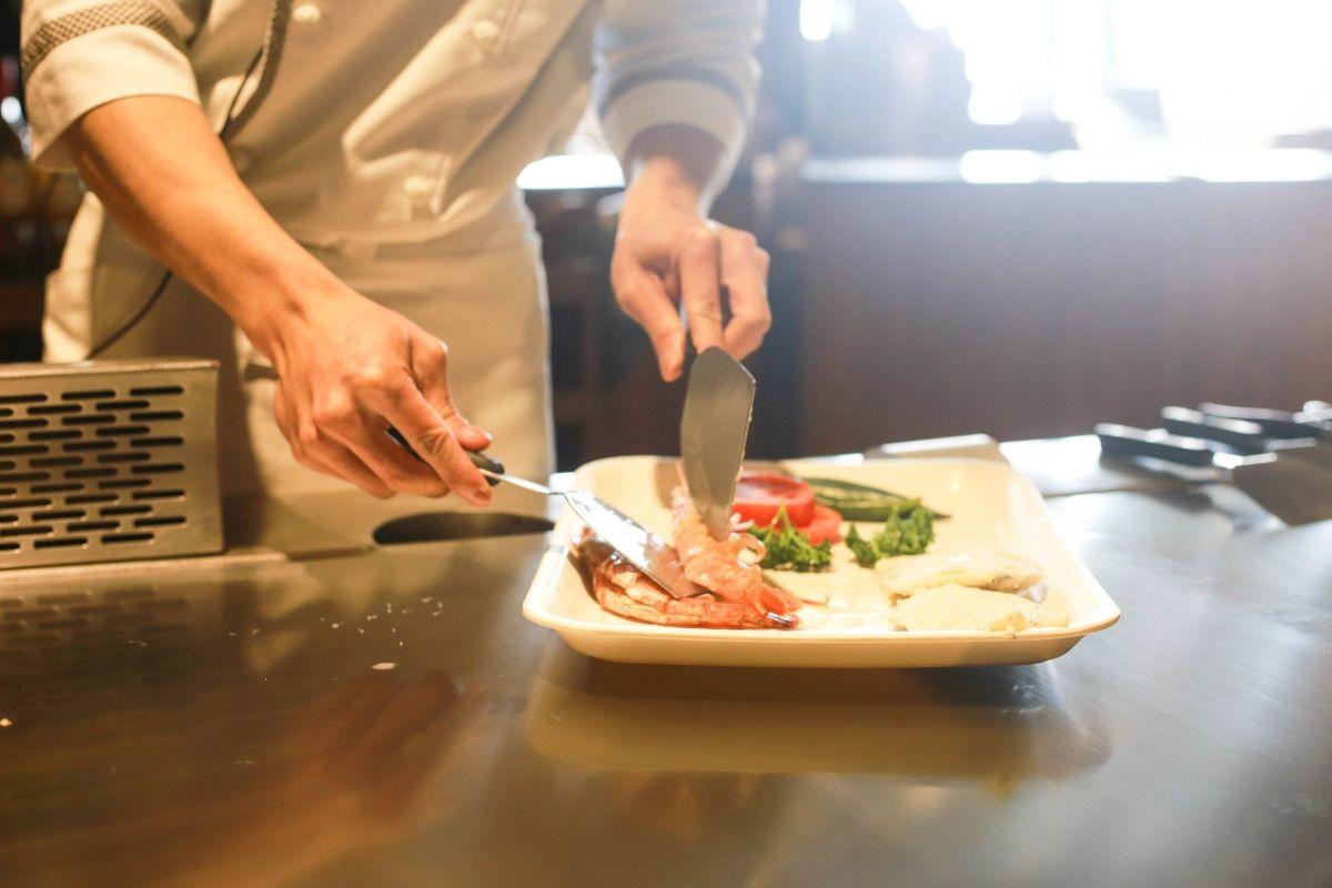 Restaurant chefkok koken