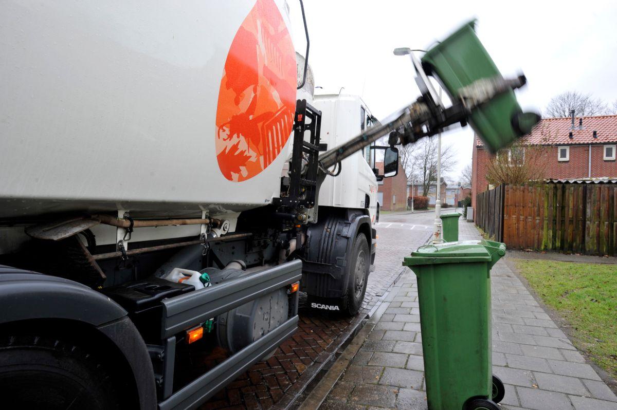 Afvalcontainer legen Twente Milieu