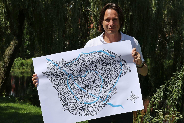 Lex van Elten gratis tekening van je wijk