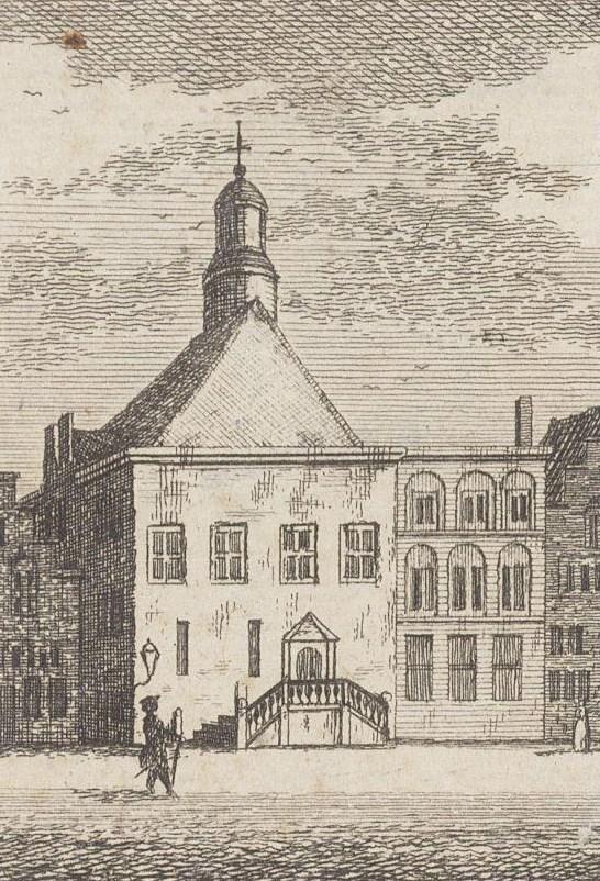 achter het oude stadhuis
