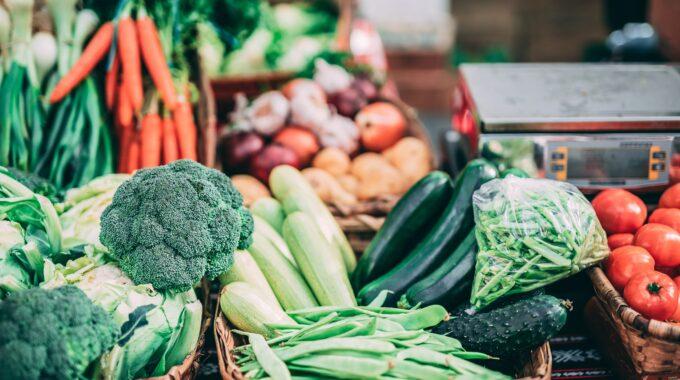 Biologische supermarkt groente