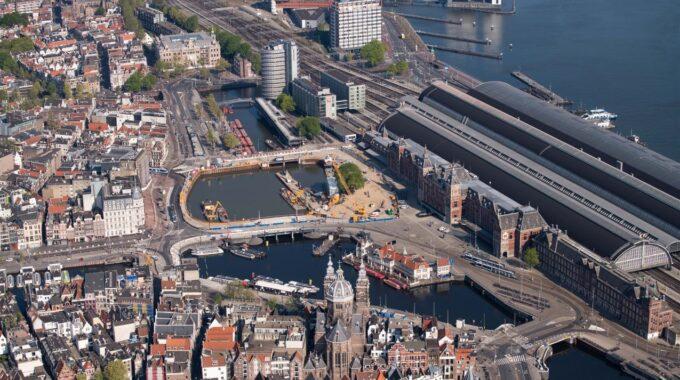 luchtfoto amsterdam centrum