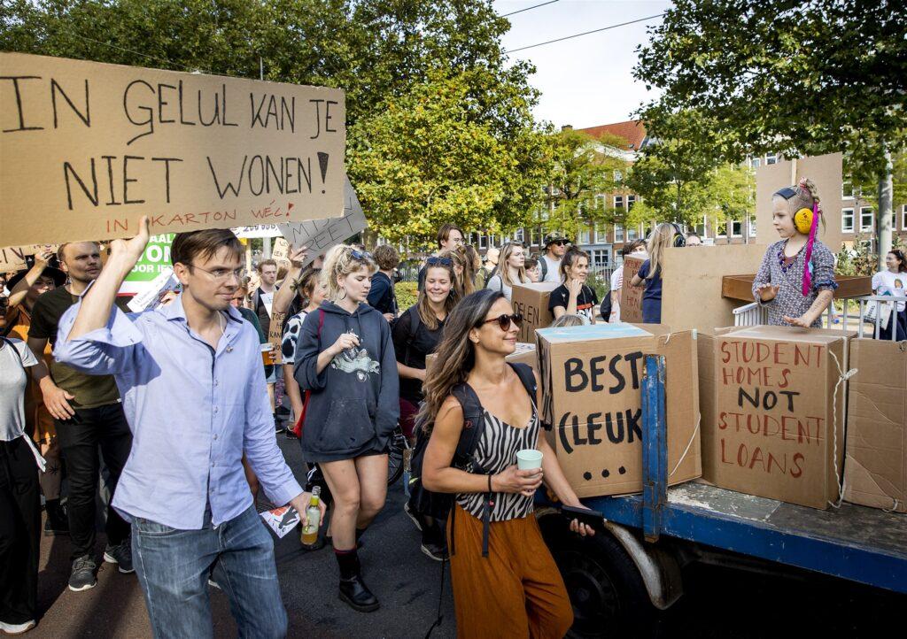 Demonstratie tegen de wooncrisis 12 September 2021 westerpark amsterdam