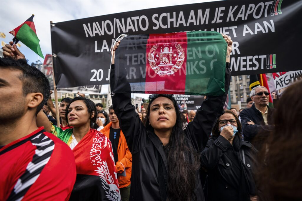 Demonstratie Elke Afghaan recht op een veilig bestaan 28 Augustus 2021 Amsterdam