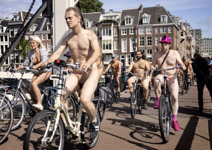 World Naked Bike Ride in Amsterdam 28 Augustus 2021