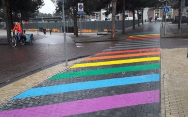 regenboogzebrapad