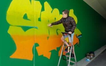 Aron street art Apeldoorn Milan Roerdink