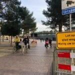 fietspad glad stationsplein