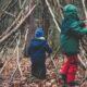 Hutten bouwen in het bos