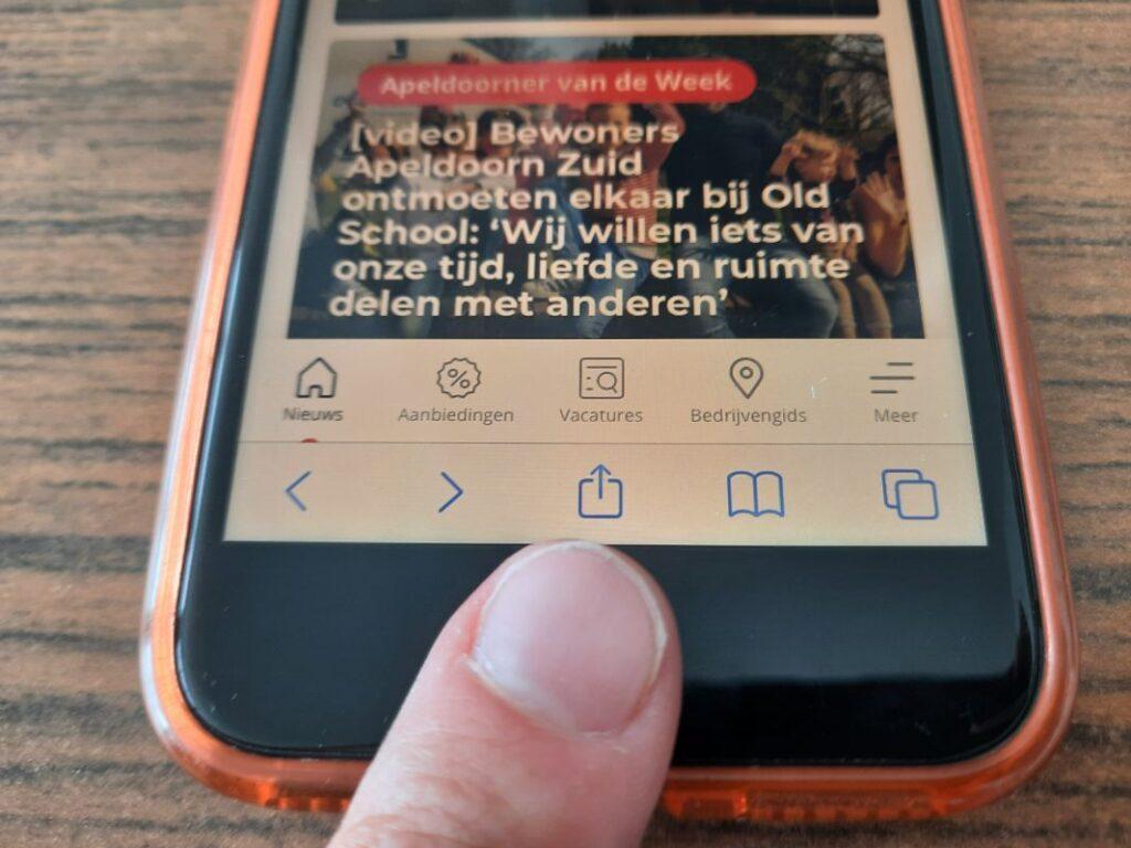 iphone indebuurt apeldoorn als app op je telefoon