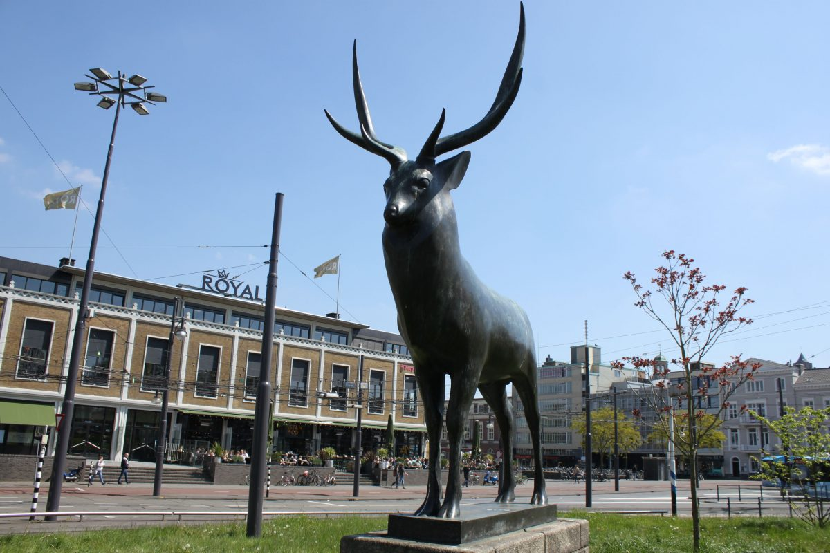 Het hert van het Willemsplein.