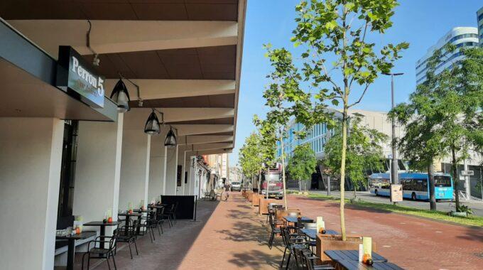 Het overdekte terrassen in Arnhem van Perron5