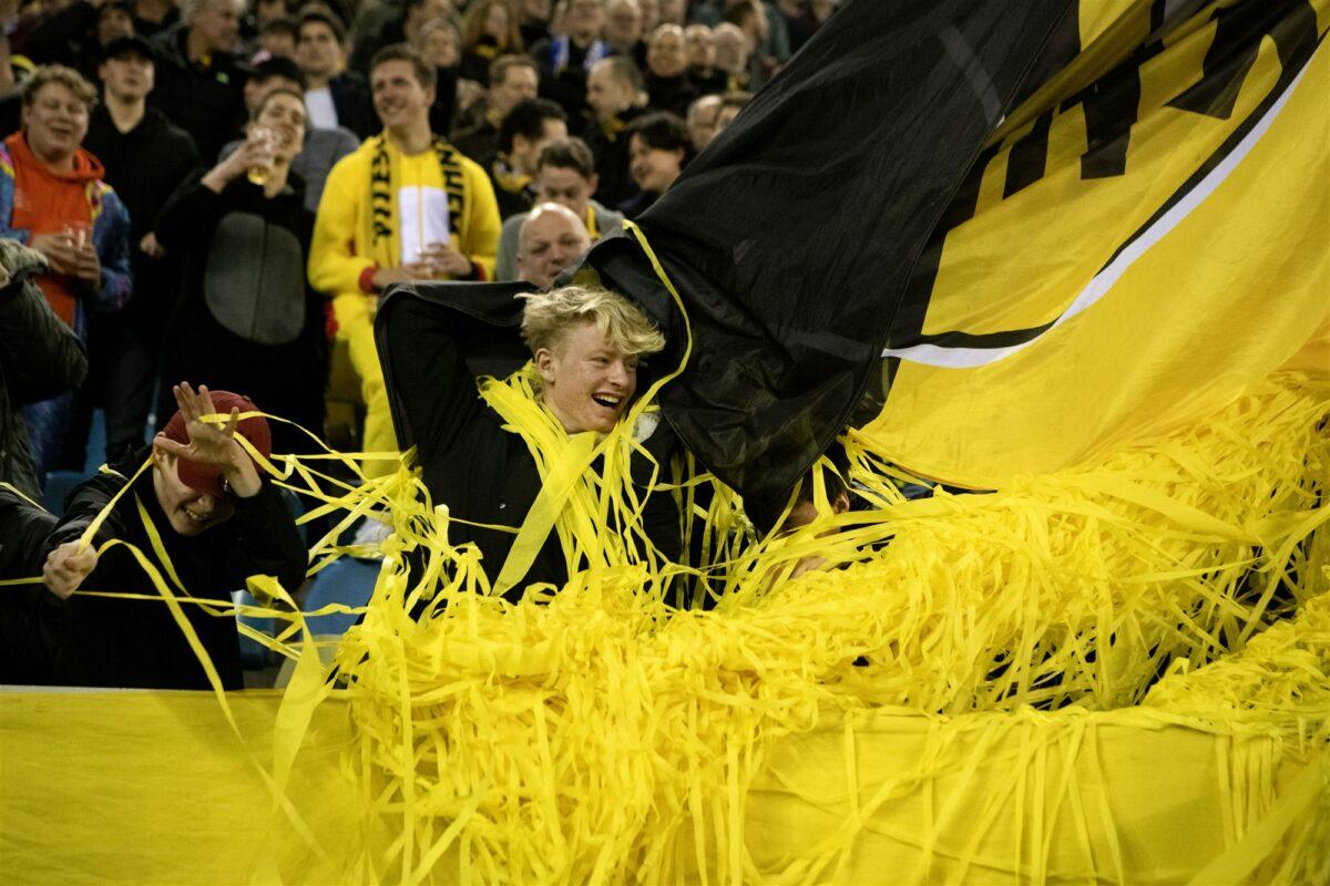 Een Vitesse fan. Foto: ANP