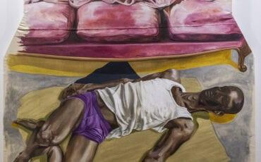 Sofa, man op de vloer - Merel Jansen