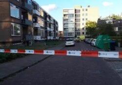 Politie doet onderzoek na de tragische schietpartij waarbij de Arnhemse Naomi om het leven kwam. Foto: De Gelderlander