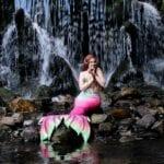 Zeemeermin Lelie in de Arnhemse waterval. Foto: Ruud Oskam ( Instagram: @opticagraphy)