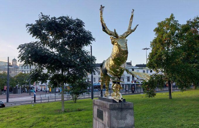 Gouden hert Willemsplein Arnhem