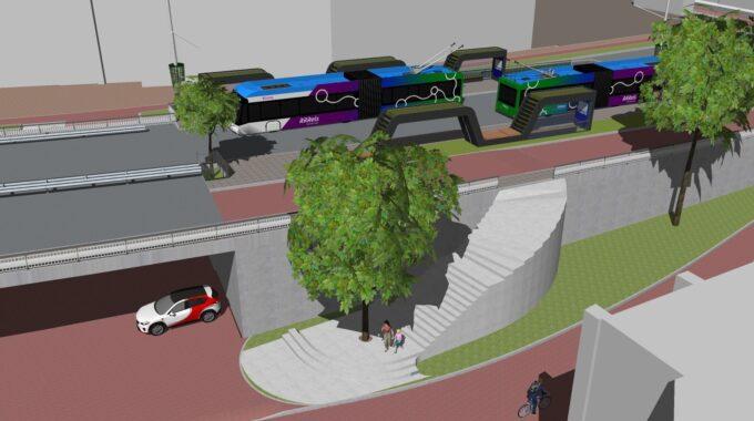 Nieuwe bushalte Rijnstraat Arnhem