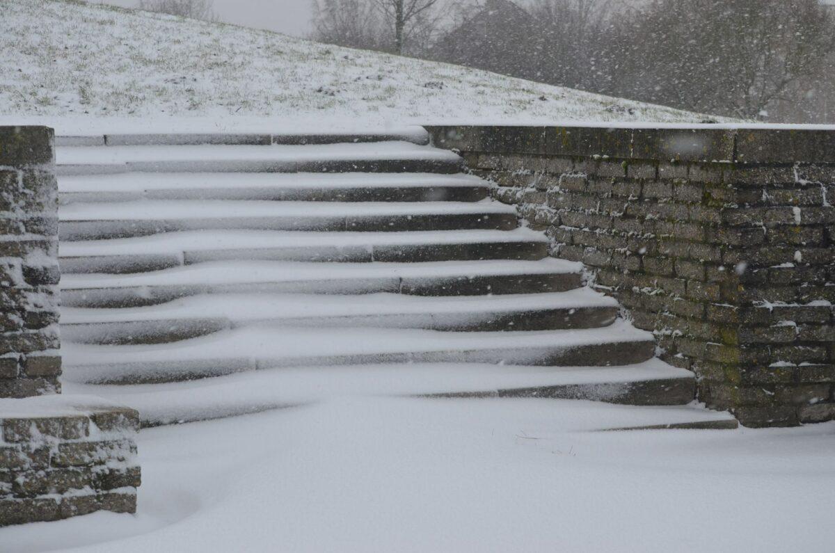 sneeuw trap