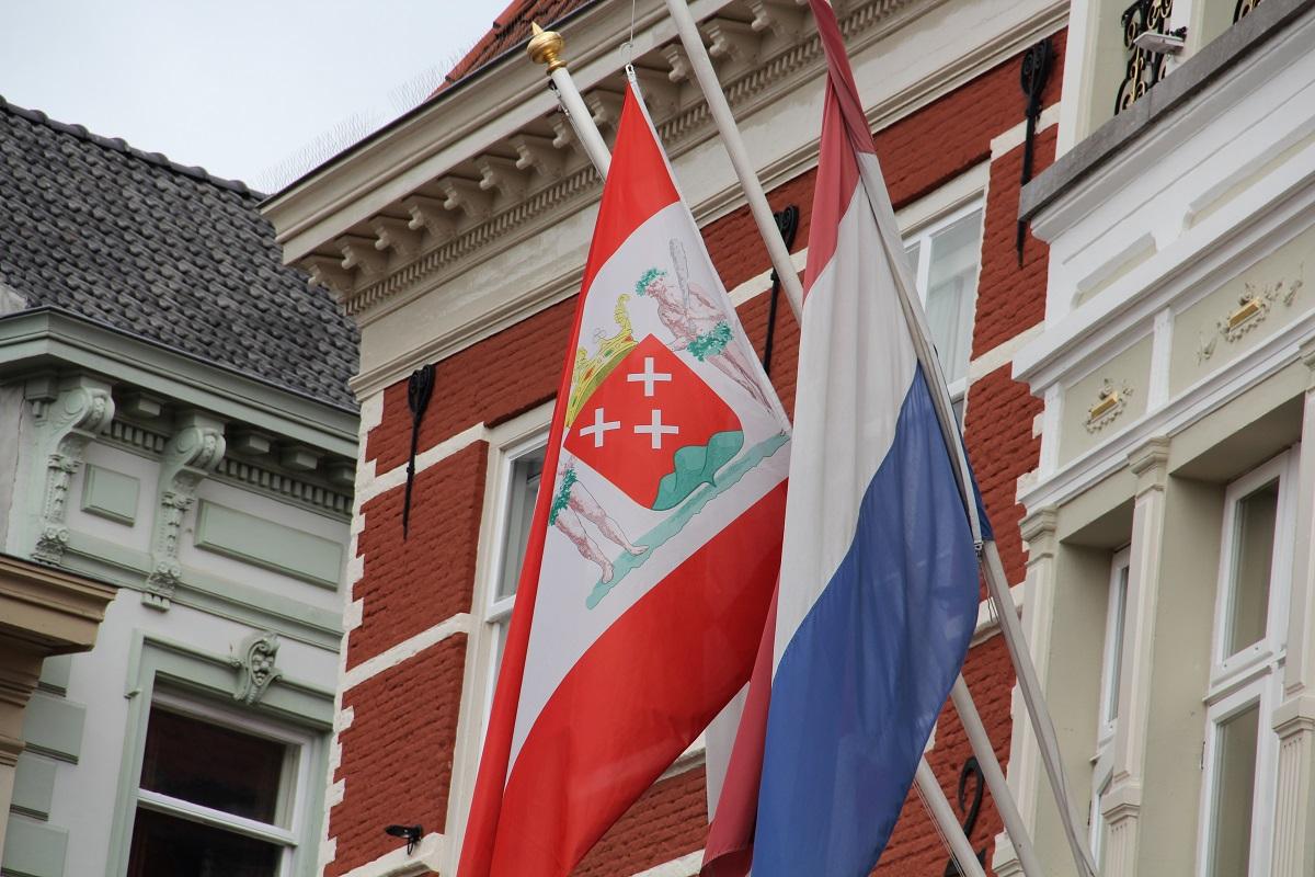 vlag uithangen stadswapen bergen op zoom - vlag