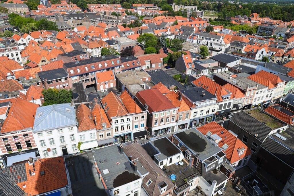 uitzicht peperbus huizen dakterras bergen op zoom huizen bergen op zoom miljoen bergse ondernemers aanbiedingen bergen op zoom centrum groen peperbus uitzicht zuivelstraat