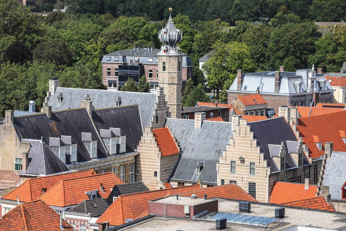 uitzicht peperbus Markiezenhof dicht stedenband bergen op zoom favoriete plek in bergen op zoommarkiezenhof uitzicht vanaf peperbus