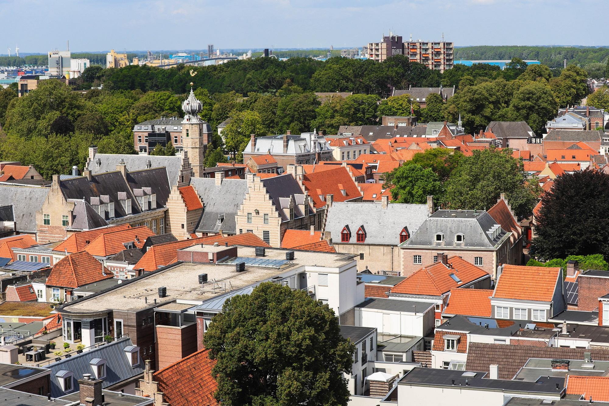 huizenprijzen bergen op zoom uitzicht peperbus markiezenhof uitzicht vanaf peperbus