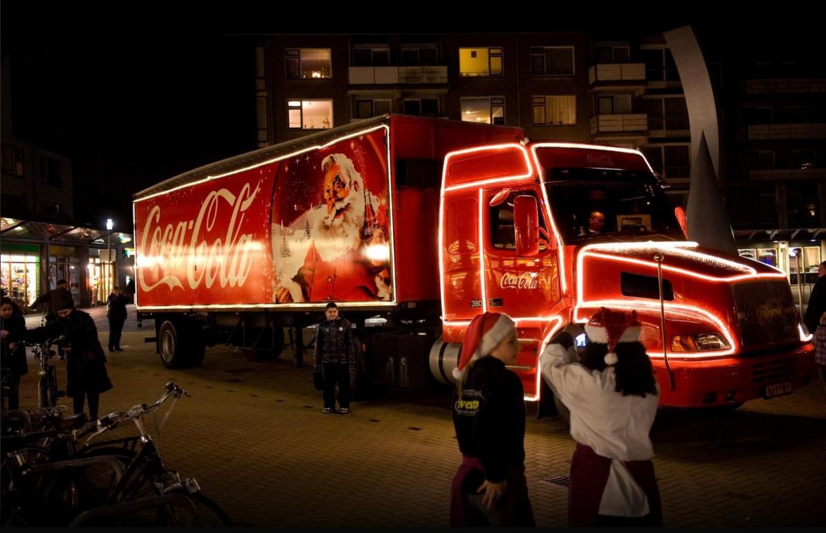 coca cola kersttruck bergen op zoom