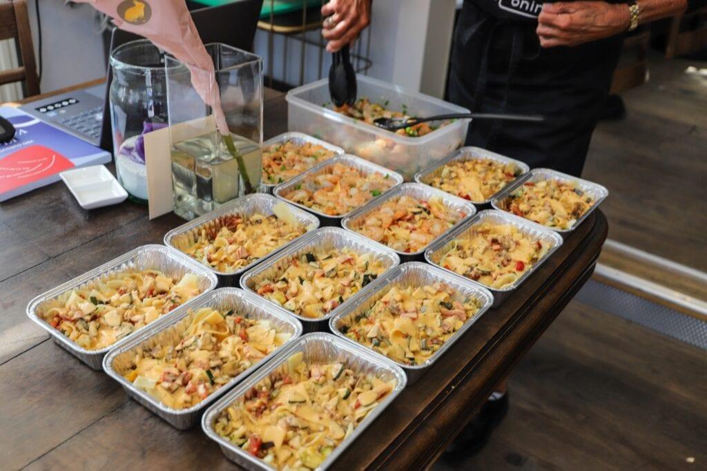 Pasta eten restaurant take away afhalen bezorgen corona bij de coninck