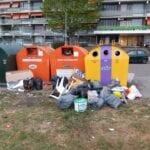 dumpen afval plastic bak mileustation afval container plastic glasbak blik scheldeflat borgvlietsedreef