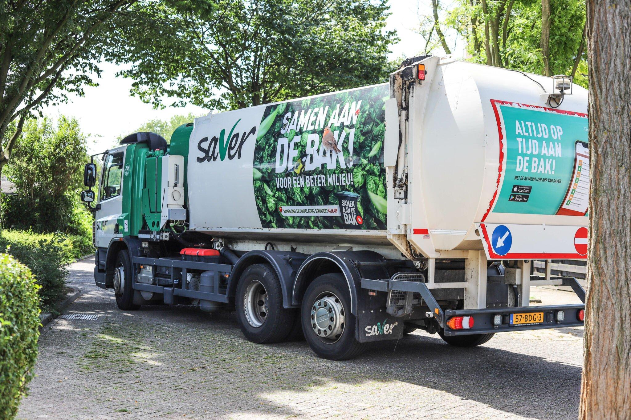 gft-container Bergen op Zoom Samen aan de bak vuilnisbak container kliko papierbak papier blauwe bak afval oud papier saver vuilniswagen samenaandebak.nl