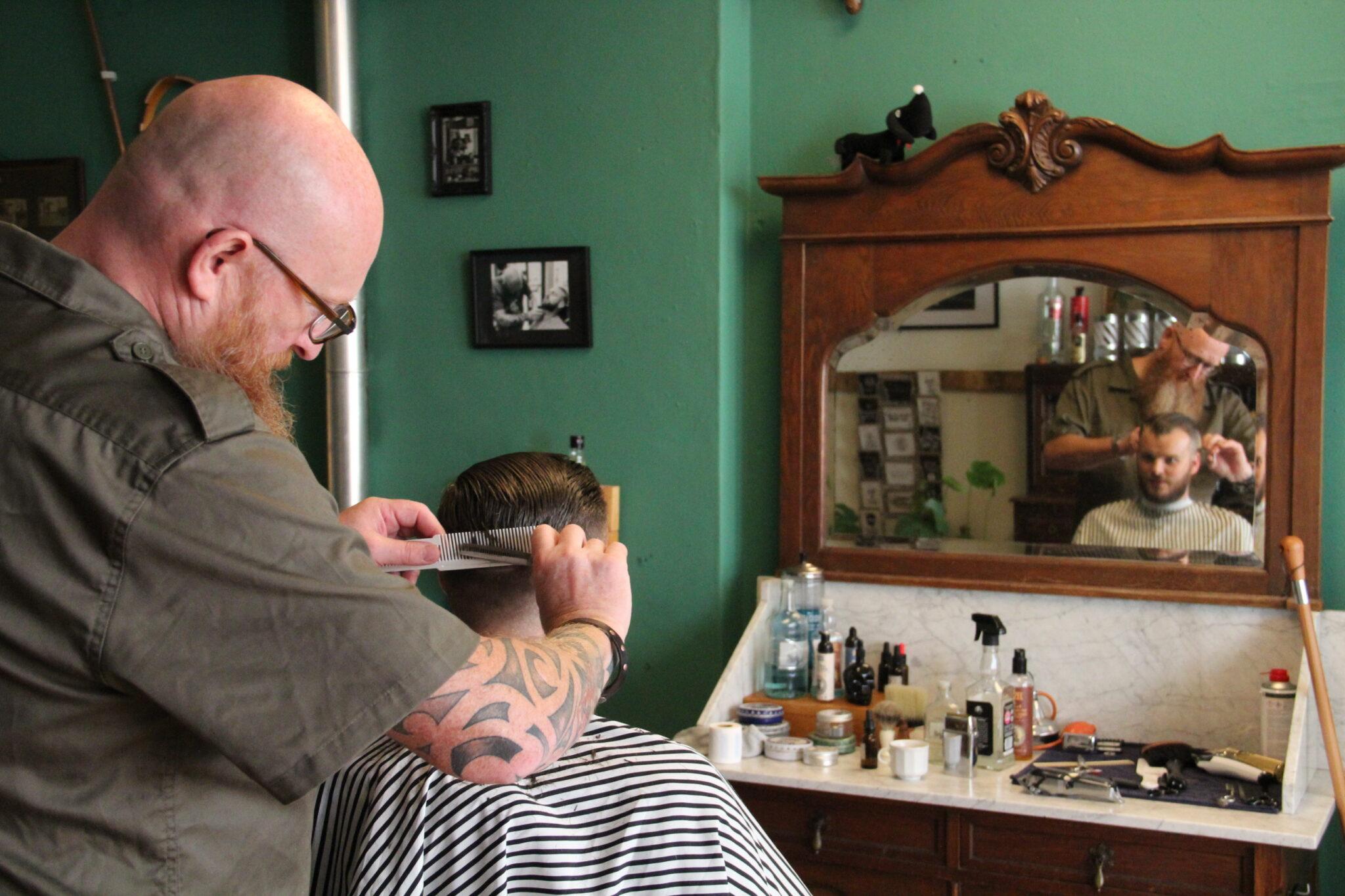 Mannuh Barbiers Jaap Leyte kapper kapperszaak barbershop