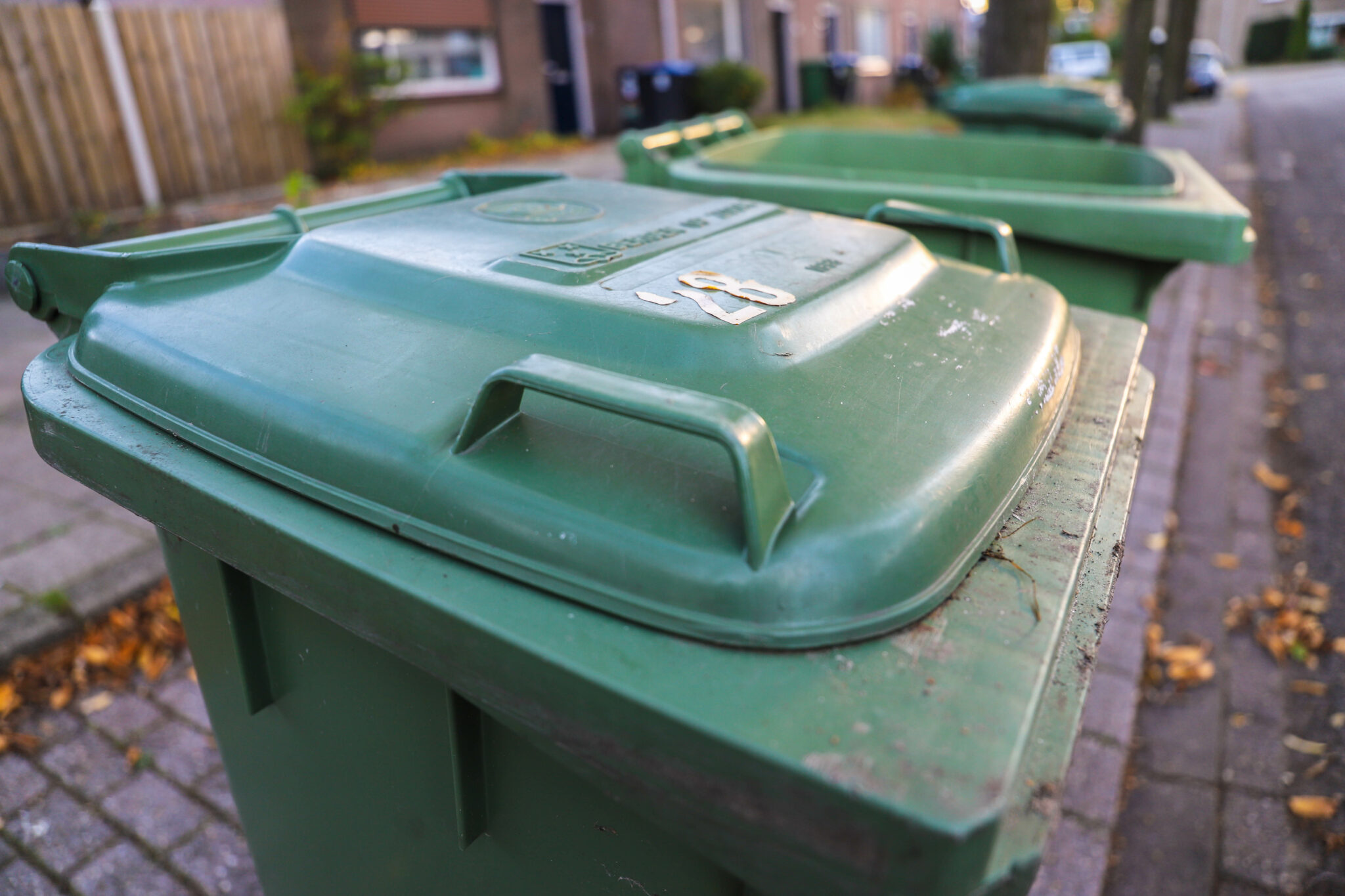 afval container groene prullenbak