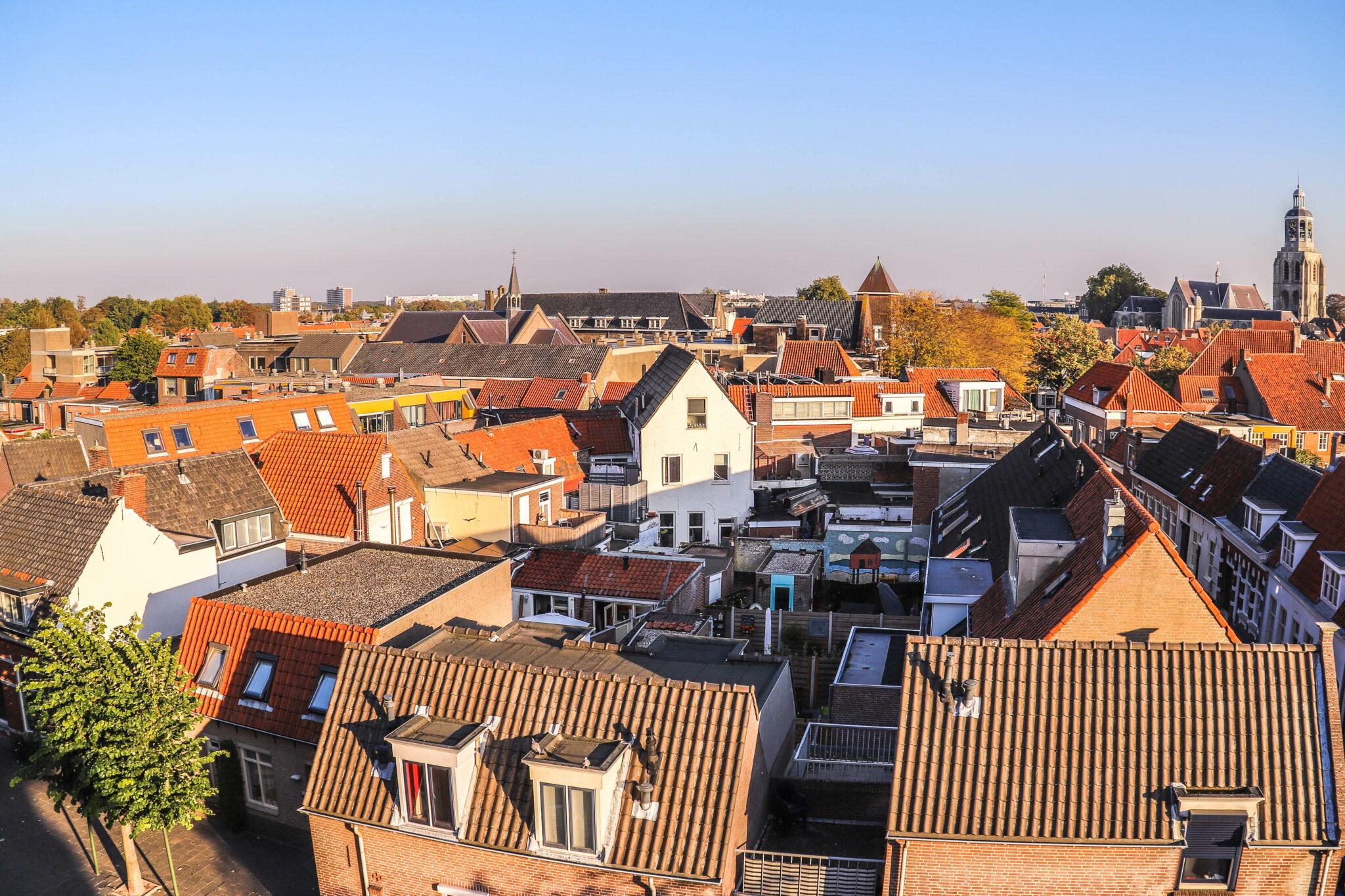 bergen op zoom overzicht stad huizen peperbus