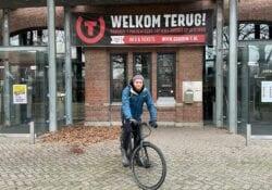 Stefan School bergen op zoom fietsen voor het goede doel gebouw-t poppodium goede actie