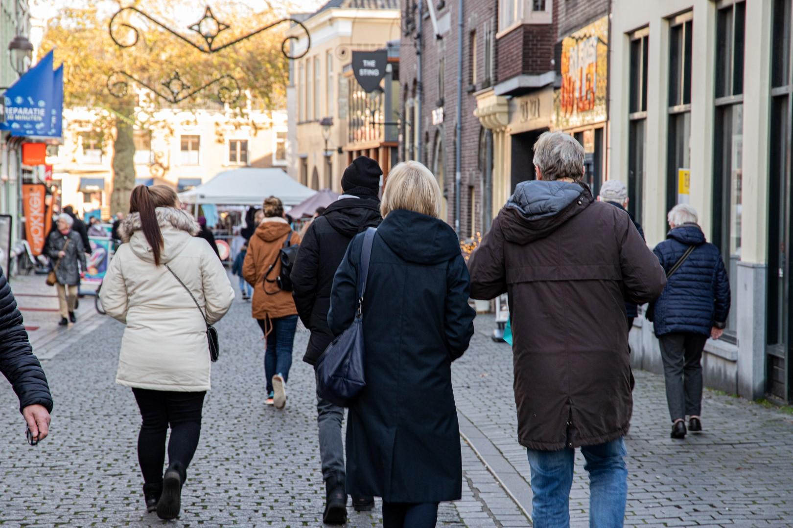 Donorregister mensen binnenstad drukte