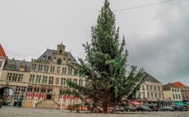kerstboom Bergen op Zoom afval kerstboom bergen op zoom kerst kerstmis stadhuis grote markt kerstversiering