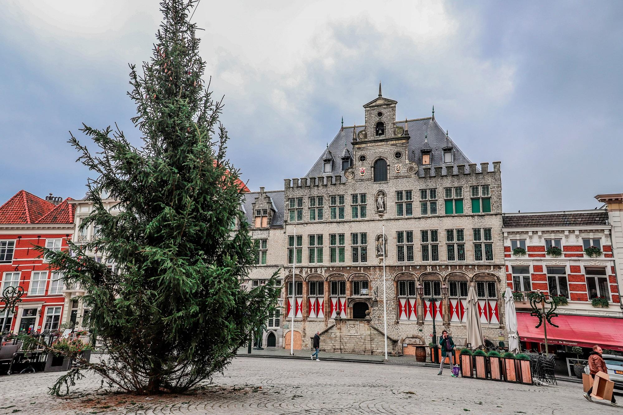 Corona in Bergen op Zoom: dit zijn de nieuwste cijfers van het RIVM kerstboom bergen op zoom kerst kerstmis stadhuis grote markt kerstversiering