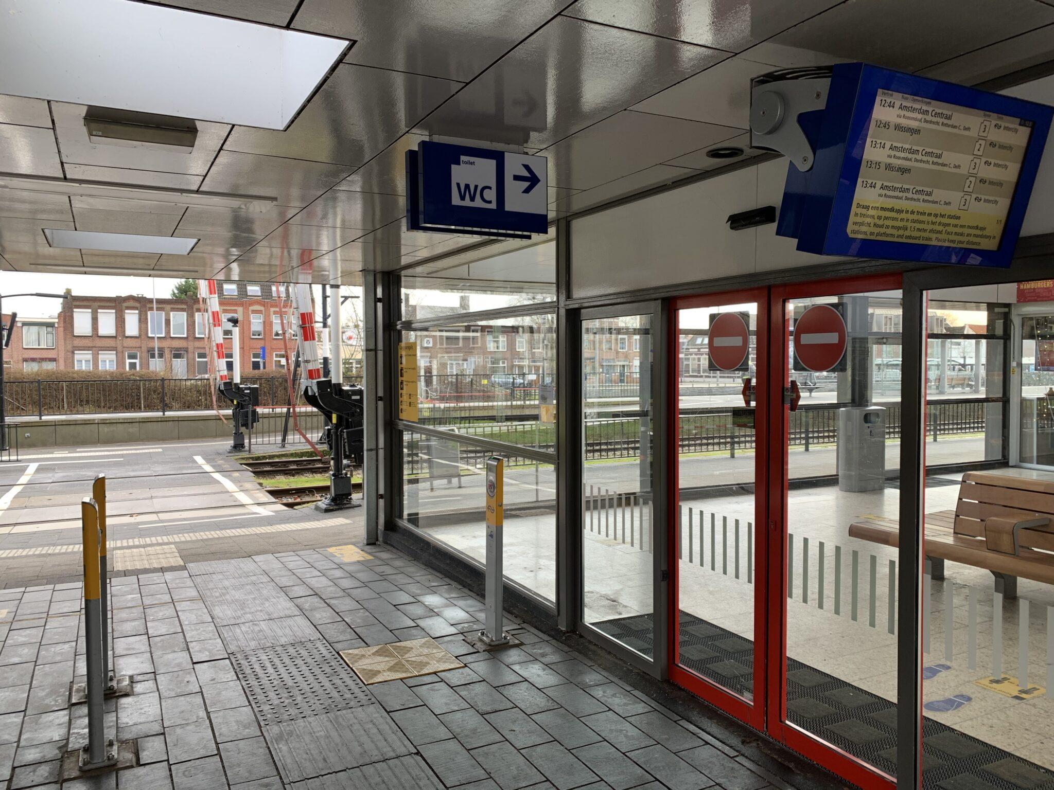 Bergen op Zoom wc ns station trein treinstation wc toilet toiletten wc's perron nederlandse spoorwegen bergen op zoom