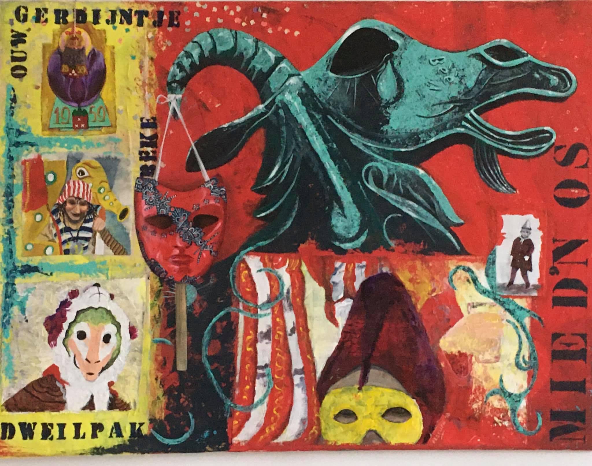 Elseline Withagen speurtocht kunst schilderij schilderijen kunstwerk geit geitje