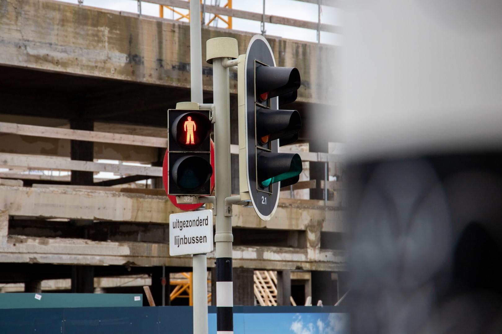 stoplicht rood voetgangers verkeerslicht