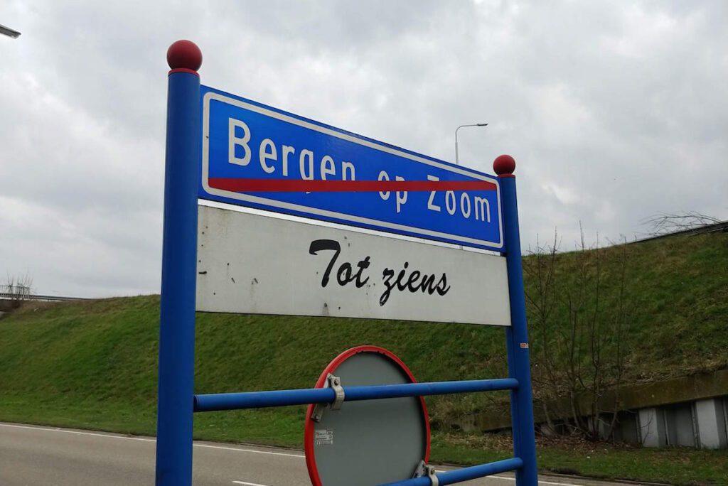 Bergen op Zoom Bord Verkeersbord Tot Ziens