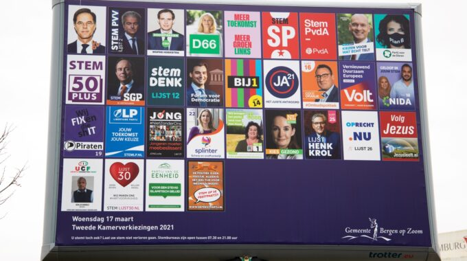 Verkiezingen Tweede Kamer Posters Bord Stemmen