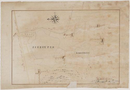 Zeezuiper Kaart Keutelmeer Zoomland 1775