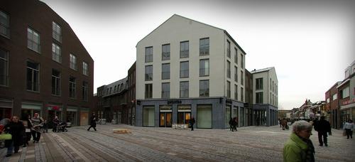 Nieuwbouwproject binnenstad. Sint-Josephplein, gezien naar Voetboog en rechts Sint-Josephstraat